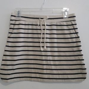 Loft Knit Striped Skirt with pockets Size XS